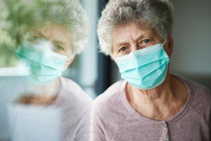 Patient Wearing Surgical Mask